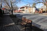 The empty main street of Hahndorf.