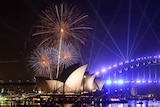 The 9.00pm New Year's Eve Fireworks on Sydney Harbour at Mrs Macquarie's Point.