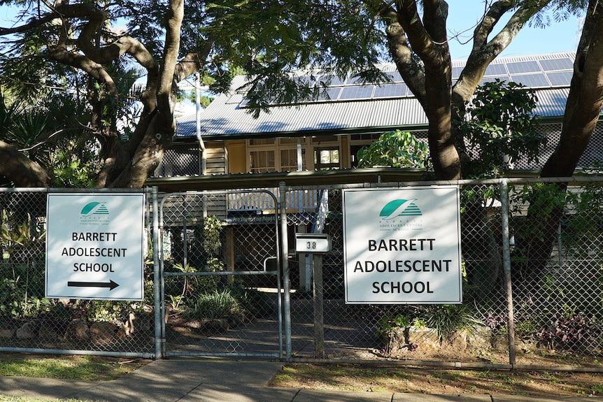 Front of Barrett Adolescent Centre Special School in Tennyson in Brisbane