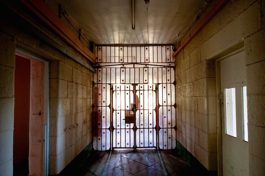 The solid metal doors inside Pentridge Prison.