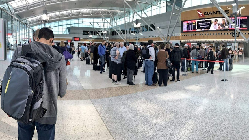 Lines for security screening are reportedly stretching out the doorways at major airports.