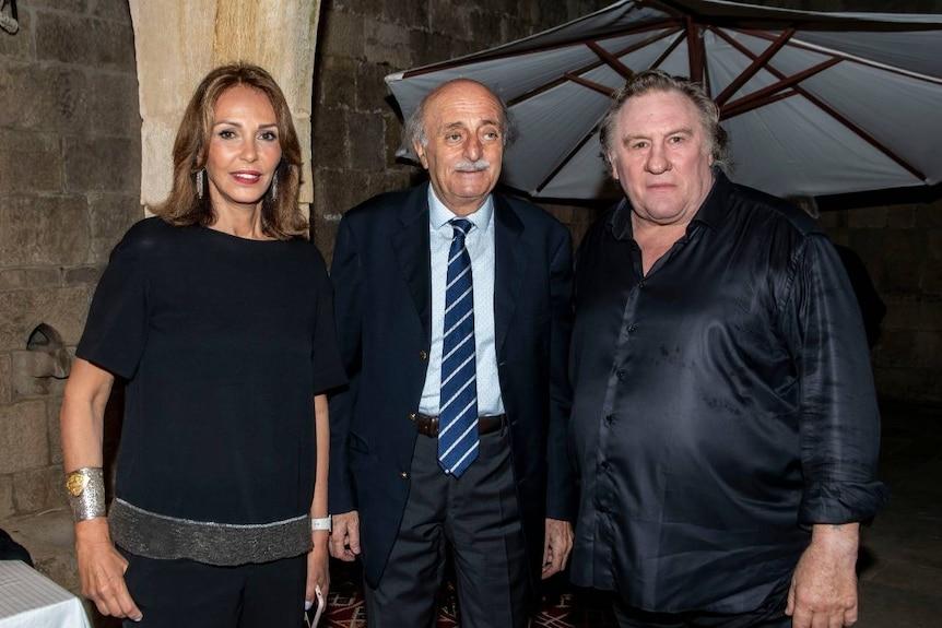 Walid Jumblatt meeting with acotr, Gerard Depadrieu