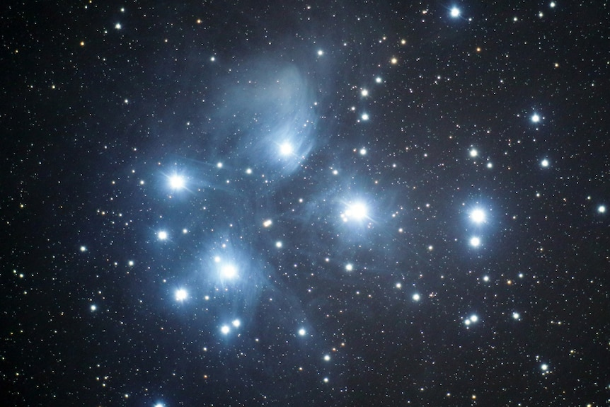 Close-up of the Pleiades