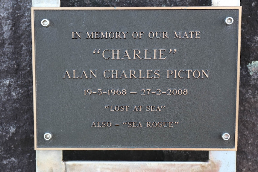 Memorial plaque for Alan Charles Picton