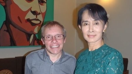 Professor Turnell appears with Aung San Suu Kyi