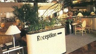 Floating hotel reception.
