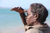 Paul Bunbunynu surveys the swamp