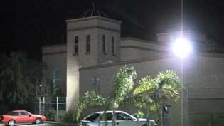 The mosque in northern Perth where a drive-by shooting occurred.