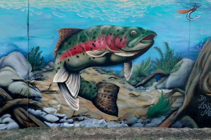 Aerosol paint mural.