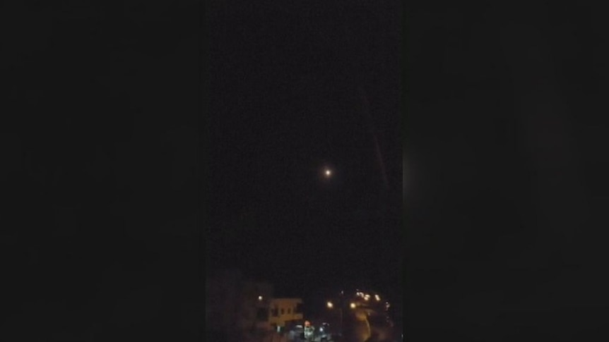 Video shows surface-to-air missile fired during attack on airfield