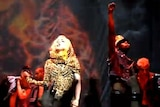 Lady Gaga performs during her Sydney concert
