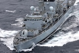 An aerial view of the HMS Richmond at sea, in this file photo.