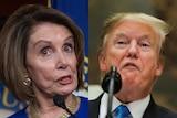 A composite image of US House Speaker Nancy Pelosi and US President Donald Trump