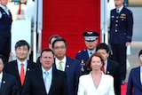 Julia Gillard touches down in South Korea