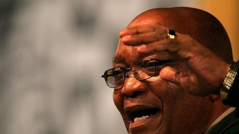 Close up of ANC leader Jacob Zuma
