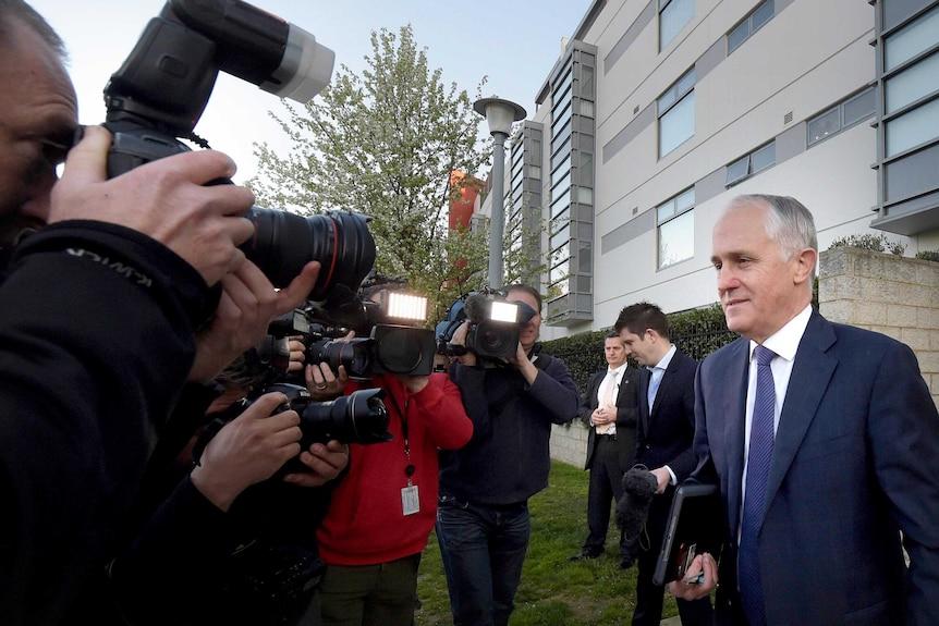 Prime Minister-designate leaves home