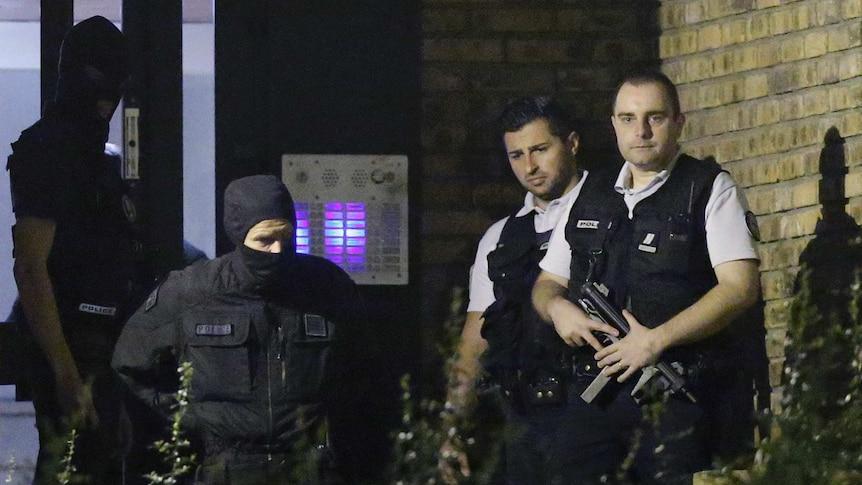 French police raid Boussy-Saint-Antoine near Paris