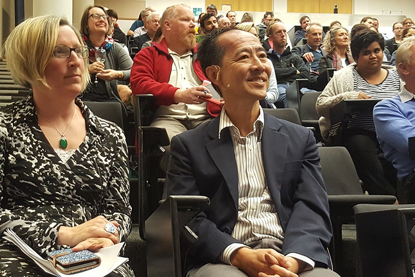 Tourism experts Anne Hardy and Can Seng
