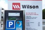 Wilson parking meter at Darwin hospital