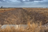 An empty irrigation channel