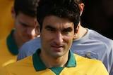 Mile Jedinak lines up for Socceroos team photo