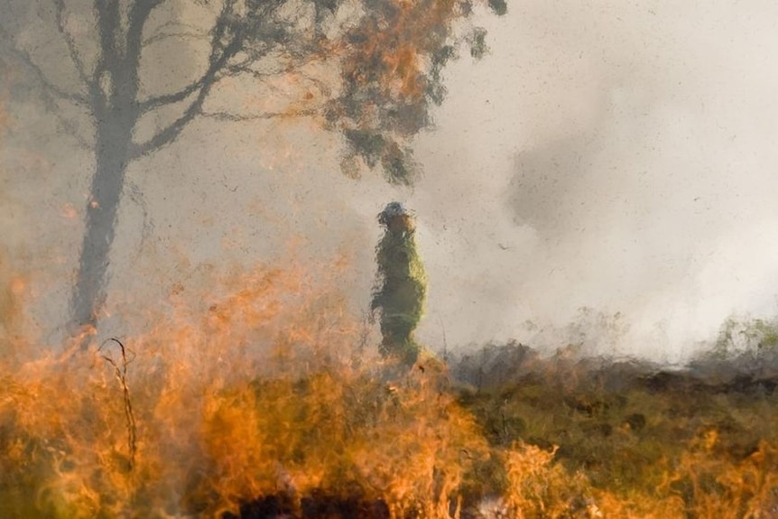 Several large grassfires threatened homes.