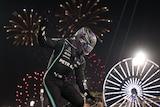 Lewis Hamilton celebrates Bahrain GP win