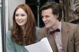 Matt Smith (right) and co-star Karen Gillan