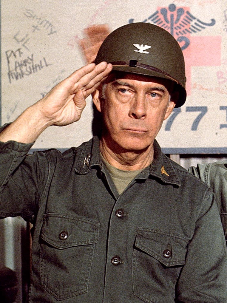 Harry Morgan stars in a scene from MASH.