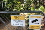 The locked  gate of a Buderim property on Clitheroe Ave