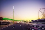 An artist's impression of a proposed elevated cycling path over Footscray Road, in Melbourne's inner west.