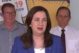 Queensland Premier Annastacia Palaszczuk providing COVID-19 update in Rockhampton