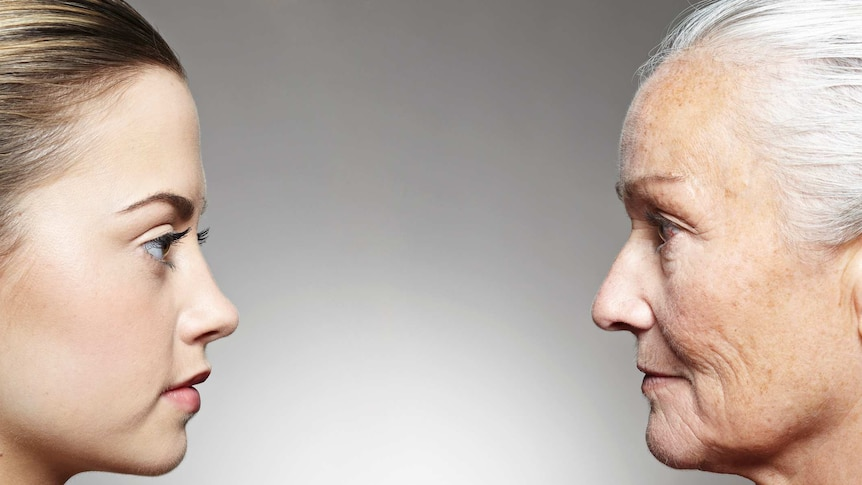women of different ages look at each other in profile