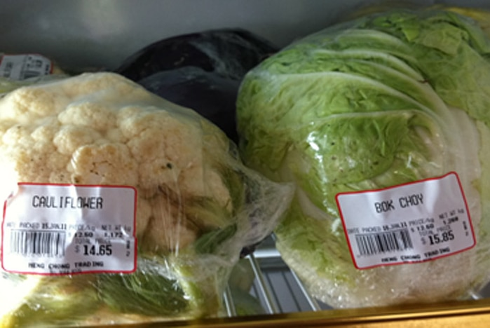The cost of fresh fruit and vegetables on Christmas Island is