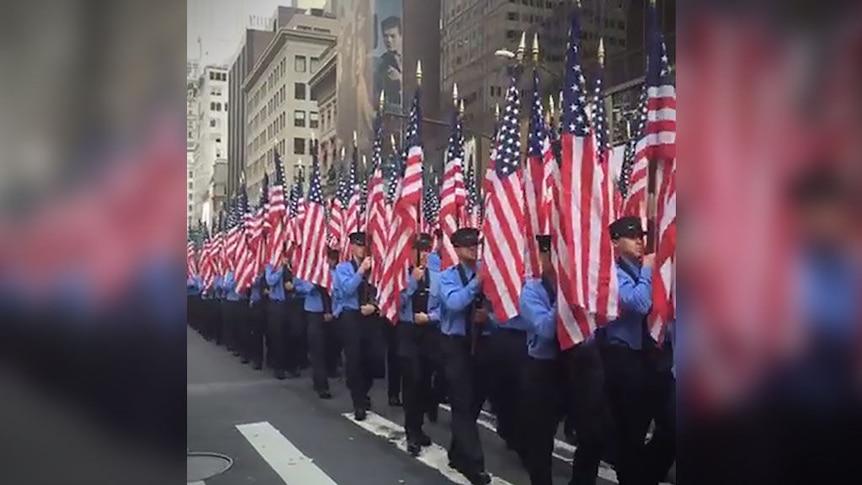 New York City fire department marks anniversary of September 11 attacks