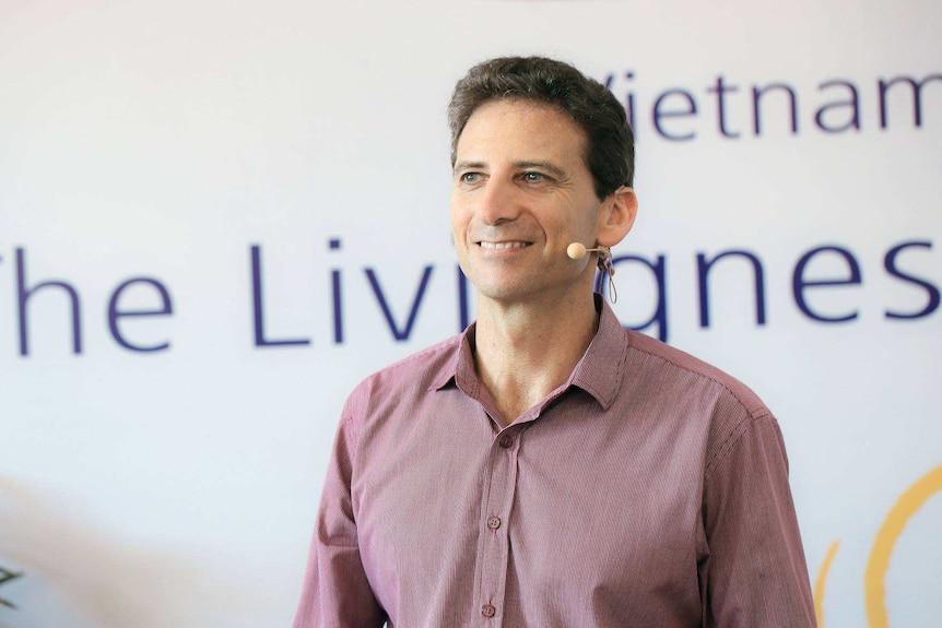 Serge Benhayon at a Universal Medicine seminar