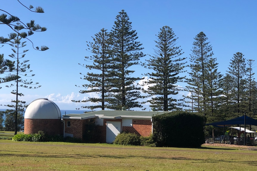 An observatory with a dome roof