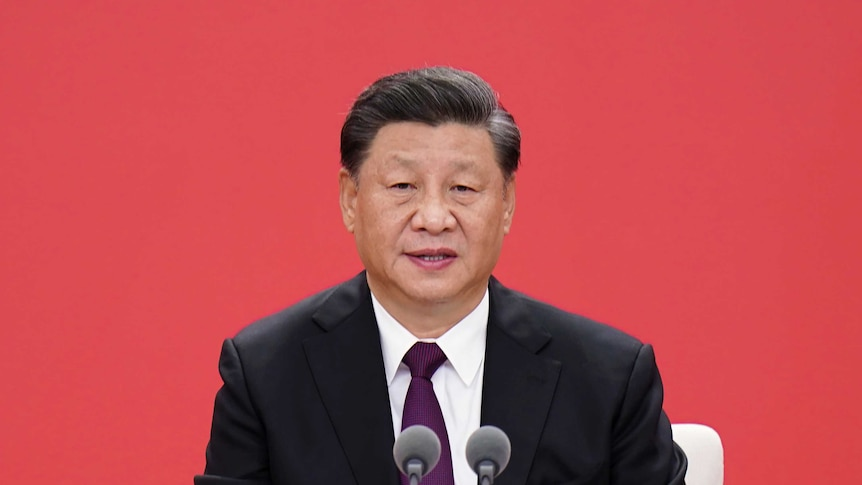 Chinese President Xi Jinping speaks during an event.