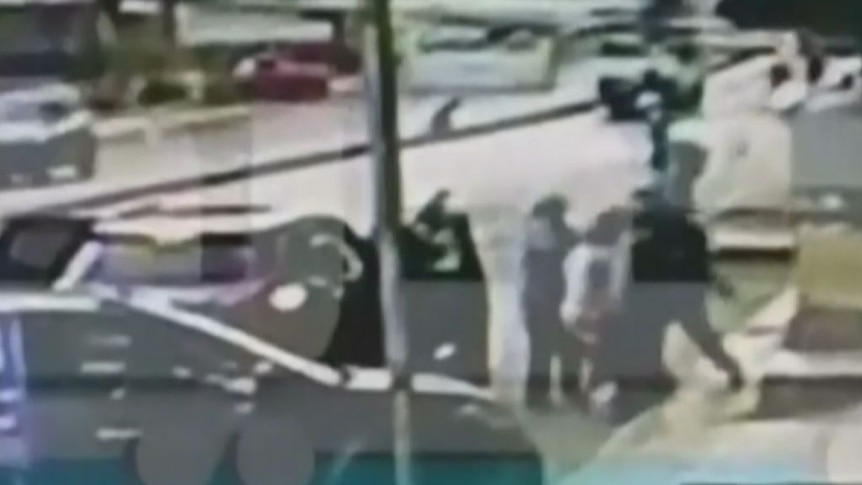 CCTV footage shows moment children taken on streets of Beirut