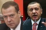 Dmitry Medvedev and Recep Tayyip Erdogan