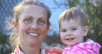 Freebirth advocate Natalie and her daughter Cyan