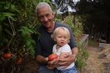 Ian Henderson and his grandson Lindsay