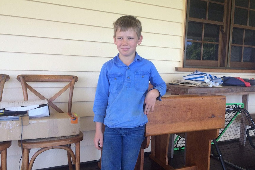 Hamish McArthur lives on a cattle property at St Lawrence in central Queensland