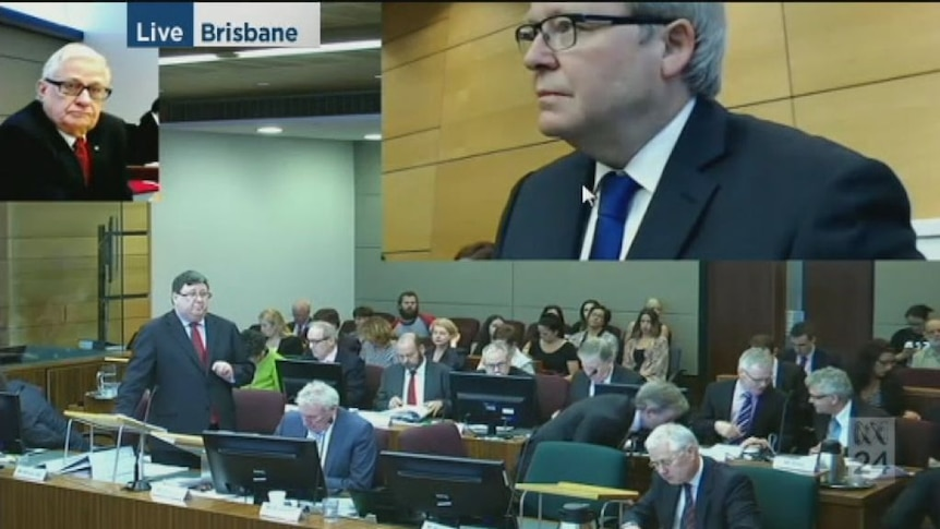 Kevin Rudd gives evidence to royal commission into insulation deaths