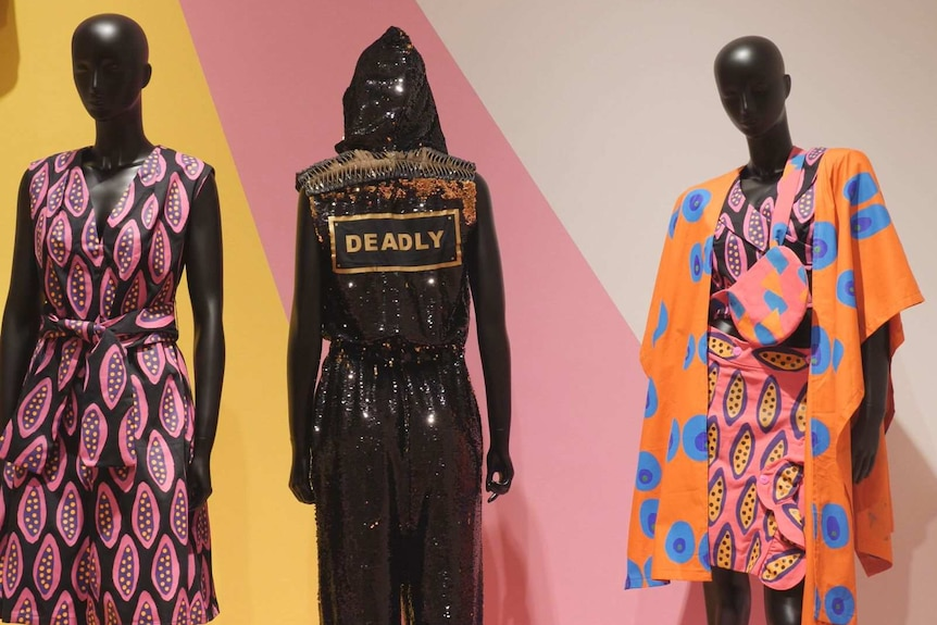Teagan Cowlishaw's sparkly Deadly Kween jumpsuit is one of the many eye-catching works on display.