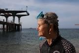 Regine Andersen at the beach on Christmas Island.