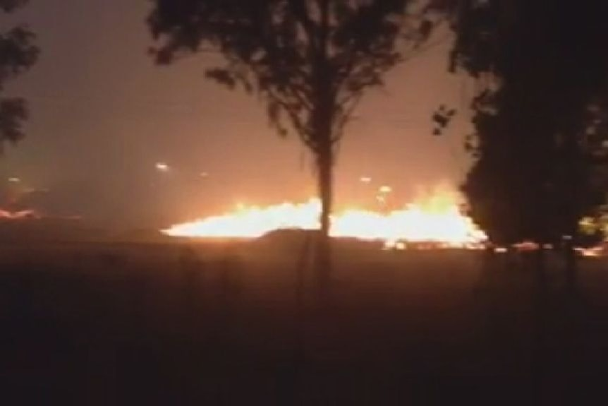 Fire burns overnight at Morwell open cut mine, paper factory