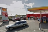 a Shell service station in Blackmans Bay with cars out the front