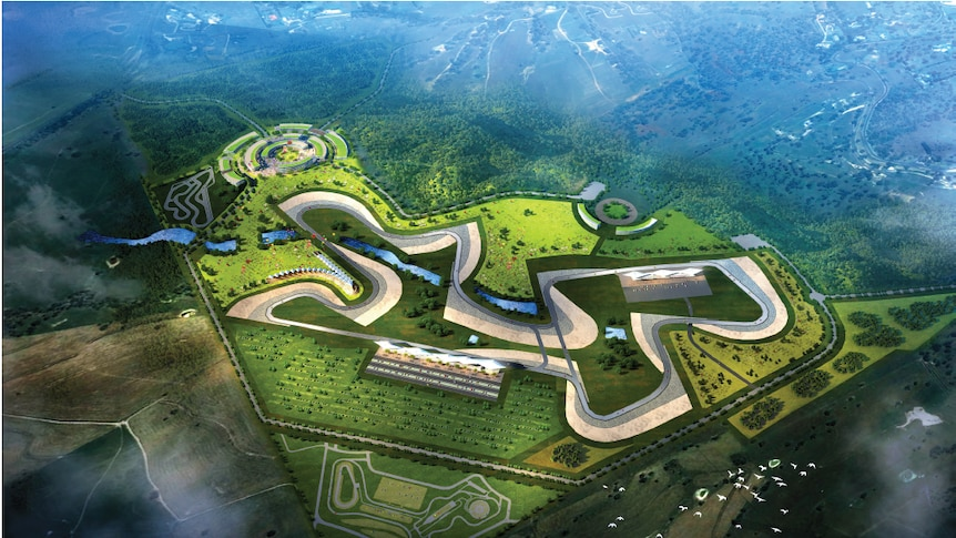 An artist's impression of the second circuit at Bathurst's Mount Panorama.