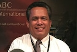 Cambodian political analyst Kem Ley at ABC International's studio in Melbourne